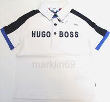 Boys Genuine Hugo Boss White Short Sleeve Cotton Polo Shirt from 4yrs to 10yrs