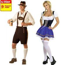 Oktoberfest Couple Costume Leiderhosen German Beer Bavarian Adult Ladies mens