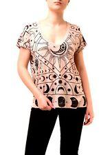 Wildfox Mujer Luna Astrología Rose Humo Nuevo con etiquetas camiseta Top Rosa Talla S RRP £ 59 BCF74