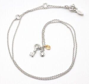 Halskette Fossil JFS00467998  Damen Anhänger Schlüssel 925 Sterlingsilber 50 cm
