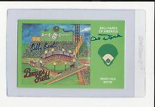 Sibby Sisti & Al Dark Signed Auto Ballparks Of America Braves Field Postcard