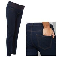 Maternity New Look Under Bump Skinny Jeans Navy Sizes 8 - 20