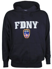 FDNY Embroidered Navy Hooded Sweatshirt Adult Large