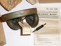 Lot 3 casques H16/U US WWII NOS en boite d'origine + 3 x CD307 NOS