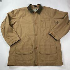 LL Bean Barn Jack Chore Coat  Plaid Lined Size XL TALL