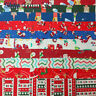 """Christmas Fabric Charm Pack Lot 100 5"""" SQUARES Holiday Quilting Fabric Pre-cut"""