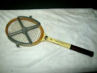 Vintage Wooden Richard Gonzales Photo Signature Tennis Racquet & Head Tensioner