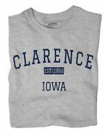 Clarence Iowa IA T-Shirt EST