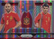 Prizm World Cup 2018 Connections Refractor Chase Card C-17 Morata & Iniesta