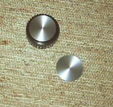 Pair of Spun Aluminum Knob inlay for Drake B-Line tuning knobs