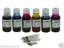 Refill ink for Epson 78 Cartridge R260 R280 R380 RX595 Printer 6x4oz Black Color