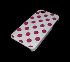 NEW WHITE AND PURPLE POLKA DOT APPLE IPHONE 4 4S CASE SUPER FAST SHIPPING