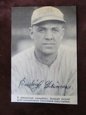 Burleigh Grimes Autographed B/W Magazine Paper Clipping - Hall of Fame