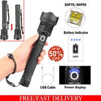 Torche rechargeable USB puissante lampe de poche LED XHP50/XHP70/XHP90 Zoom FR