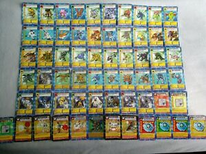 Very rare Holo 1999 Digimon TCG Bandai Complete starter set cards