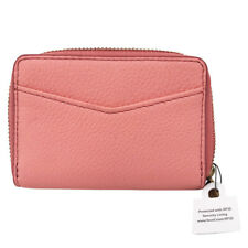 Fossil Powder Pink RFID Zip Mini Card Wallet NEW NO SIZE LT/PASPINK