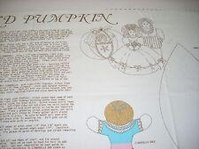 Vtg Cinderella and Pumpkin Fabric Doll Panel