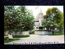 Early 1900's Entrance Sen. S.B. Elkins Grounds in Elkins, Wv West Virginia Pc