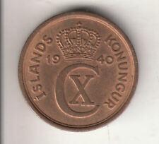 ICELAND 1 EYRIR 1940 COPPER        159H           BY COINMOUNTAIN