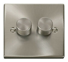 Click Deco Victorian Satin Chrome 1 Gang 2 Way 400w Dimmer Switch