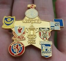 LIVERPOOL FC THE ROAD TO THE FIFTH FA CUP 1992 LARGE GOLD GILT PIN BADGE VGC