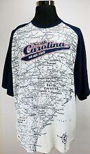 North Carolina Tar Heels State of Mine Map  Campus T-Shirt White/Blue NCAA XXL