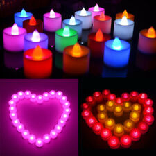 1-48Pcs Electric LED Candle Small Tea Lights Flameless + Battery Valentine Decor
