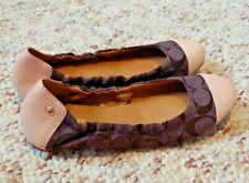 Coach Callie Ballet Flats Size US 6.5 Leather Brown