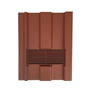 Roof Tile Vent To Fit Redland Renown | Red Granular | 8 Colours Available