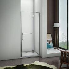 100x190cm paroi de douche battante porte de douche pivotante porte-serviette
