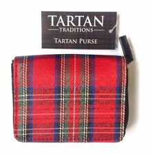 Royal Stewart Tartan Purse 12cm by 10 cm Free UK Postage