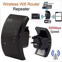 Router repetidor Wifi 300Mbps amplificador potenciador de señal WI-FI EU Negro