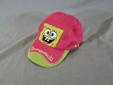Nickelodeon Spongebob Big Sponge SnapBack Baseball Cap Hat Vintage Pink