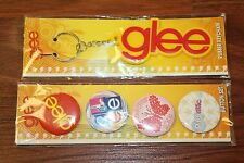 Glee Keychain & Glee Collectors Buttons Set(4) *Free Shipping*