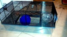 Hamster Cage Includes Free Water Bottle, 2 Exercise Wheel, Run-About Ball.