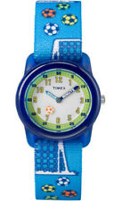Timex TW7C16500 Kid's Time Teacher Soccer Ball Elastic Nylon Strap Watch