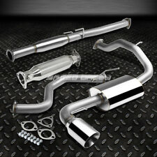 """4""""ROLLED TIP MUFFLER CATBACK+HIGH FLOW EXHAUST PIPE FOR 88-91 HONDA CIVIC ED 3DR"""