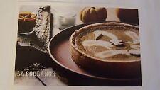 La Boulange Starbucks San Francisco SF Post Card - Pumpkin Creme Fraiche Tart