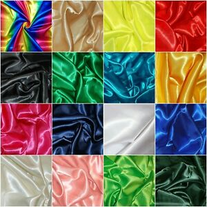 Premium Silky Satin Dress Craft Fabric Plain Luxury Wedding Material 150cm Wide