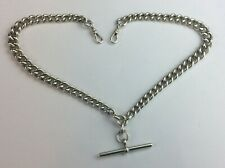 Vintage Solid Silver Double Albert Watch Chain Available Worldwide