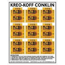 Casa de muñecas en miniatura de hoja de 9 Cajas De Kreo-Koff Conklin