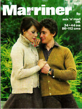 Marriner Knitting Pattern, his & Hers Jacket & Sweater, 34-44in, 1621