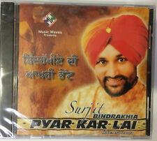 Surjit Bindrakhia Last Album Pyar Kar Lai Limited Edition Sealed Pack Music CD
