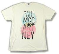 Paul Mccartney Color Lens Run Tour 2011 Cream T Shirt XL New Official Merch