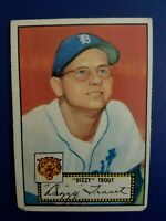 1952 Topps Dizzy Trout #39 VG-EX RED BACK DETROIT TIGERS
