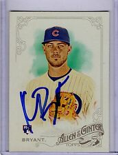 Kris Bryant Autographed Allen And Ginter Trading Card JSA