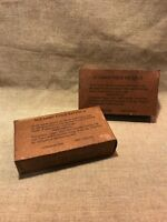 WWII US Army Chocolate D-Bar Ration box 4 oz. Hershey,Co. (X2) Lot