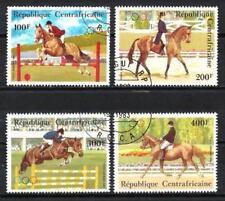 JO été Centrafrique (7) série complète de 4 timbres oblitérés