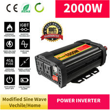 Solar Power Inverter 2000W Peak 12V DC To 110V AC Modified Sine Wave Converter A