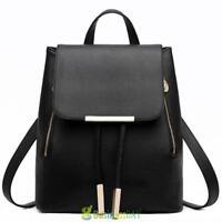 Women's Leather Backpack Travel Satchel Girls' Shoulder Bag School Rucksack Bag